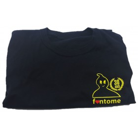 "Fantome T-Shirt Black - Yellow ""30 Ans"" XL"