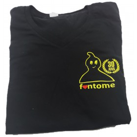 "Fantome T-Shirt Black - Yellow ""30 Ans"" S ""V"" (Women)"
