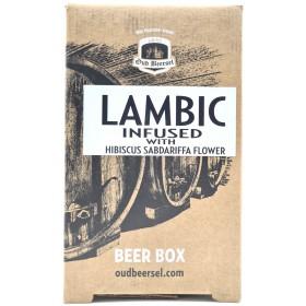 Oud Beersel Lambic Infused with Hibiscus Sabdariffa Flower Beer Box